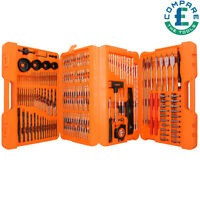 WellCut 217 pcs Drill and Screwdriver Bit Set Hole Saw HSS Masonry Wood Bits