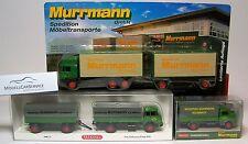 "Konvolut Speditionsmodelle (H0) ""Murrmann Kulmbach"": Krupp, Mercedes, MAN F2000"