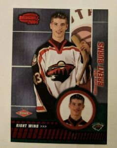 2003-04 Pacific Invincible Red - Brent Burns Rookie #114 (203/850)