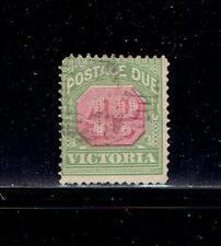 Australia  #J43 1909 4d  Postage Due F Used Green/Carmine - SCV $11.50