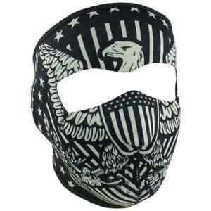 Zan Headgear Street Motorcycle Riders Full Face Neoprene Masks - Vintage Eagle