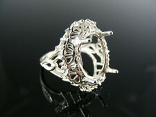5507 RING SETTING STERLING SILVER,  16X12 MM OVAL STONE SIZE 7.5