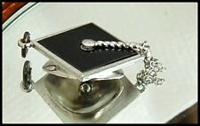 Vintage Sterling Silver Graduation Mortar Board Hat Charm / Pendant