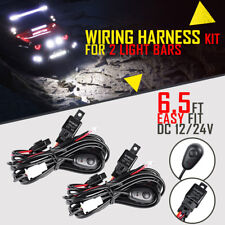 2X Wiring Harness Kit Switch Relay For DRL Offroad HID LED Light Bar 12/24V 40A
