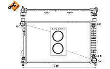NRF Radiador, refrigeración del motor MERCEDES-BENZ CLASE C CLK SLK 53419