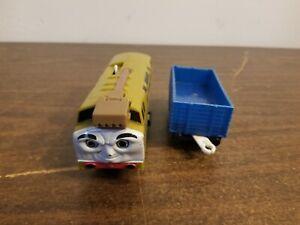 DIESEL 10 Thomas & Friends Trackmaster Motorized Train W/ Blue Cargo Car