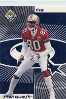Randy Moss / Jerry Rice 1998 Upper Deck Choice Starquest / Rookquest SR07
