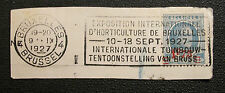 1927 HORTICULTURE EXPOSITION Brussels Cover Fragment Leopold Bruxelles BELGIUM