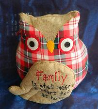 OWL DOOR STOP TARTAN HOME / FRIENDS / FAMILY LEONARDO PATCH COLLECTION