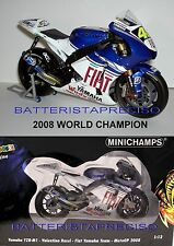 MINICHAMPS VALENTINO ROSSI 1/12 YAMAHA 2008  WORLD CHAMPION  VERY RARE SOLD OUT