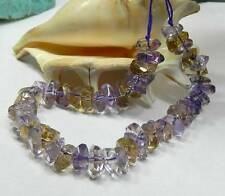 """NATURAL FACETED PURPLE GOLDEN AMETRINE CITRINE AMETHYST NUGGET BEADS STRAND 7.5"""""""