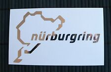 Adesivo Nurburgring con nome circuito sticker decal auto moto vetro wall window