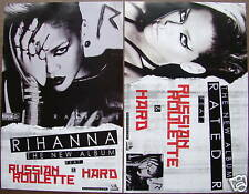 RIHANNA Rated R New PROMO 2 Side Poster RUSSIAN ROULETTE Rude Boy WAIT YOUR TURN