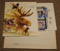 1987 U.S.P.S. Commemorative Mint Set Unmounted, Mint Condition with Envelope.