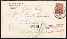 3939 MEXICO TO CHILE REGISTERED COVER 1941 NOT CENSORED  D.F. - SANTIAGO