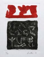 Riccardo LICATA  1991 rara incisione all'acquaforte originale firmata