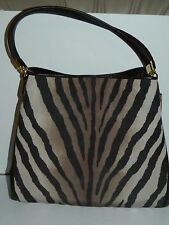 NWT COACH MADISON PHOEBE ZEBRA PRINT SHOULDER PURSE 26636