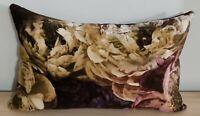 Designers Guild Le Poem De Fleurs Rosewood & Omega Velvet Cushion Cover 55x35 cm