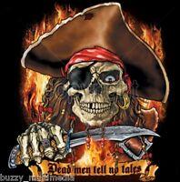 Pirate Shirt, Dead Men Tell No Tales,  Arrr, Matey! - Small - 5X