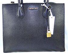 Michael Michael Kors Mercer Large Convertible Black Leather Tote Bag