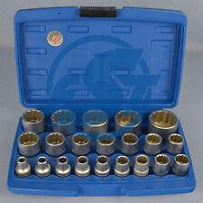 BGS Steckschlüssel Satz 21-tlg 1/2 Zoll zwölfkant Einsätze 8-36mm Nuss Set