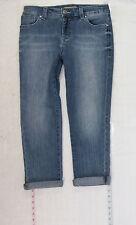Nine West Vintage Boho Capri sz 4 Womens Blue Jeans Denim Pants Stretch B1250