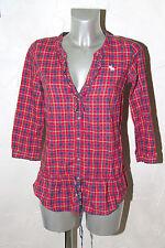 bonito camisa túnica westen rojo para mujer ABERCROMBIE & FITCH talla S
