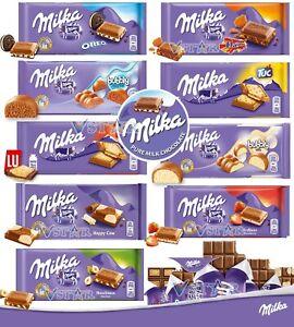 MILKA CHOCOLATE BARS VARIETY MIX FLAVOURS DAIM,COW,OREO,BUBBLY WHITE MILK