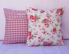 "Rosali Whitw Cushion cover,Cath Kidston Floral,Gingham,Blue,Pink,Ikea,16""x16"""