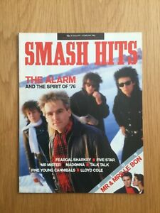 Smash Hits Magazine Jan 1986 The Alarm, Madonna, Grace Jones VG Condition