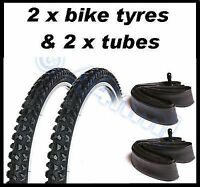 2 x Bike Bicycle 18  x 2.10 TYRES AND TUBES Mountain bike mtb OFF ROAD