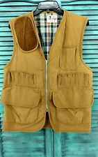 Vintage Canvasback Hunting Vest Mens Unknown Size Sport Shooting Tan Brown