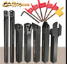 7PCS Set Of 12mm Lathe Turning Tool Holder Boring Bar+ DCMT/CCMT Carbide Inserts