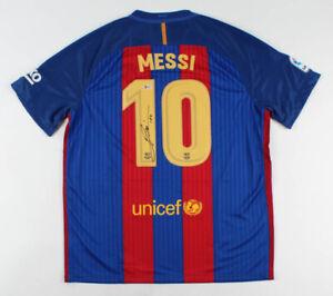 Lionel Messi Signed FC Barcelona NIKE Jersey Inscribed Leo Beckett COA!