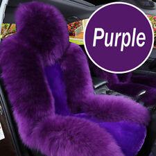 Purple Premium Quality Australian Sheep Skin Car Long Wool Front Seat Covers Mat