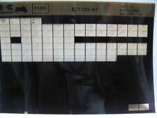 Kawasaki KZ1100 1981 Parts List Microfiche NOS k459
