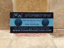 MIKE WOOLDRIDGE SUPERTIPS CUE TIPS (2016 VERSION) Twin pack 10 mm...