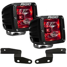 Rigid Radiance A-Pillar LED Lights w/ Red Backlight for 18-20 Jeep Wrangler JL