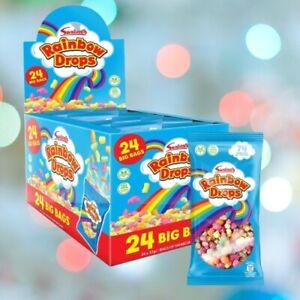 Box 24 x Large 32g Bag Swizzels Rainbow Drops Wholesale Wedding RETRO SWEETS
