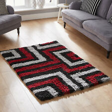 Best Quality Red Black Soft Shaggy 5cm Pile 120x170cm Small Cosy Rug for