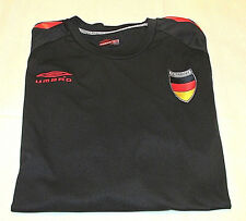 Umbro Germany Men's Jersey Climate Control Black Short Sleeve Football Soccer XL