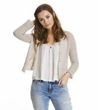 Odd Molly 442 white hey soul sister crochet knitted cardigan size 2
