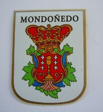Blason autocollant MONDONEDO SPAIN sticker héraldique blason wappen coat of arms