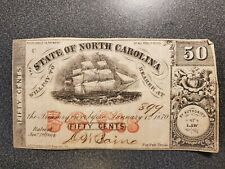 1863 North Carolina Confederate Money $3