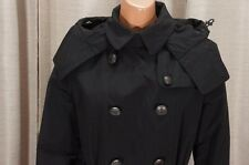 BURBERRY BRIT BALMORAL NWT BLACK HOODED TRENCH COAT JACKET 10 $1095