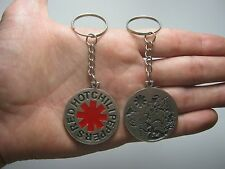 Red Hot Chili Pepper Keychain Keyring Key doble sided Pendant Pewter Silver 011