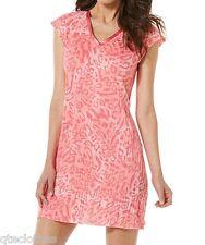 JACLYN SMITH NEW Pink Satin-Trim Print Knit NightGown Pajama Plus 3X 24W-26W QCO