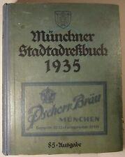MÜNCHNER STADTADRESSBUCH 1935, 85. AUSGABE, ADRESSBUCH MÜNCHEN, SELTEN!