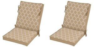 2 Hampton Bay Outdoor High back  Chair Cushions