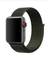 Neuf Nylon Sport Bracelet Kaki Montre Band Scratch Apple Watch série 3 2 1 42mm